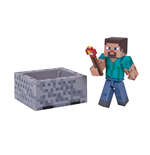 Minecraft Figura Steve with Minecart 8 cm
