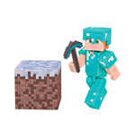Minecraft Figura Alex In Diamond Armor 8 cm