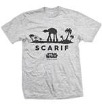 Camiseta Star Wars Rogue One At-At Silhouette Scarif