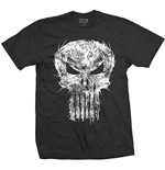 Camiseta Marvel Superheroes Punisher Skull Spiked