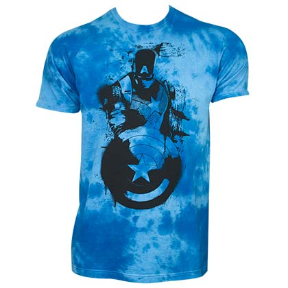 Camiseta Capitán América Cloud Wash Blue