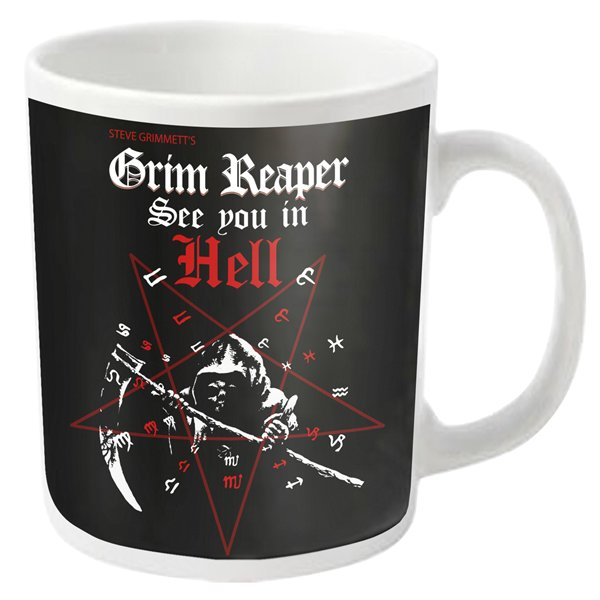 Taza Grim Reaper SEE YOU IN HELL