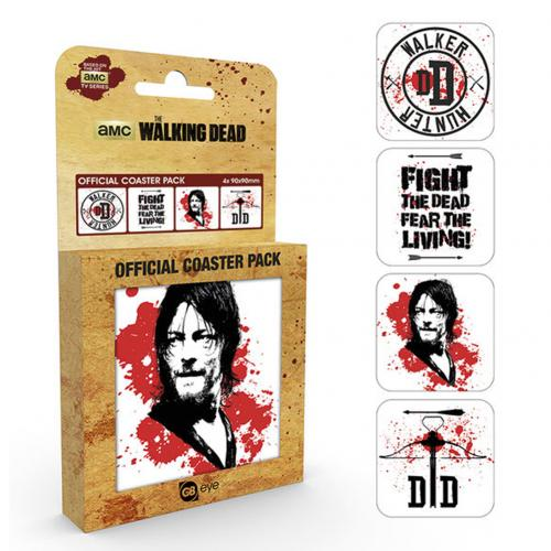 Pack Posavasos The Walking Dead