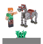 Minecraft Figura Alex with Skeleton Horse 8 cm