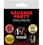 Sausage Party Pack 5 Chapas Wieners