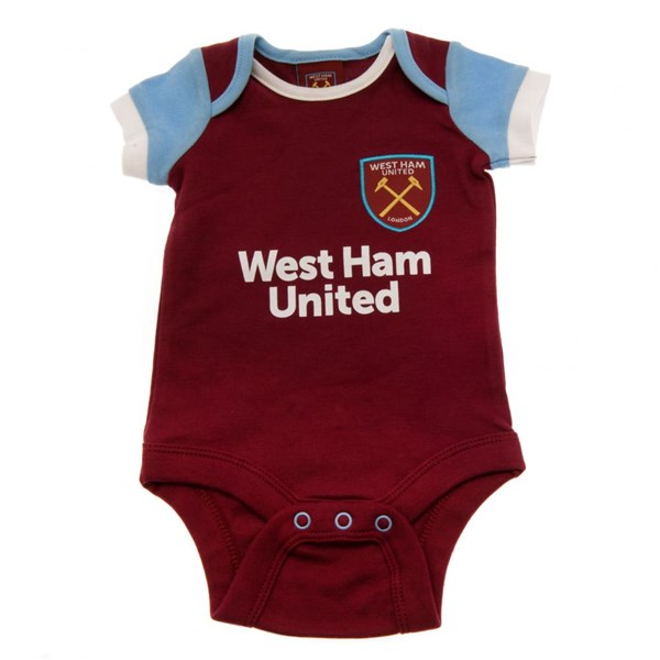 Pack Body de bebé 9/12 meses West Ham