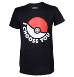 Camiseta Pokémon - I Choose You Negra