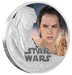 Star Wars Episode VII Moneda de plata 1 oz Rey