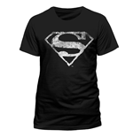 Camiseta Superman - Logo Mono Distressed