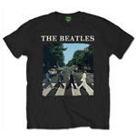 Camiseta The Beatles - Abbey Road With Logo Black