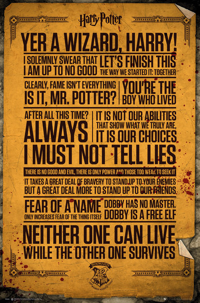 Póster Harry Potter Quotes