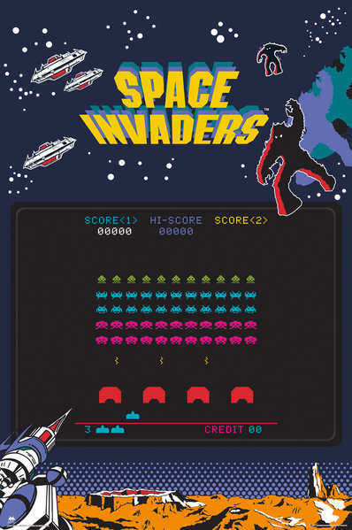 Póster Space Invaders 248510