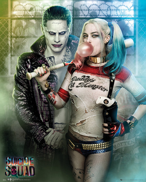 Mini Póster Suicide Squad Joker And Harley Quinn