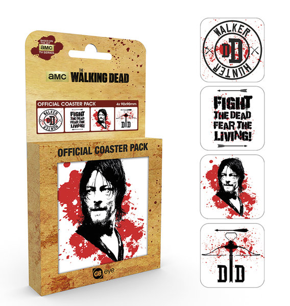 Pack Posavasos The Walking Dead Daryl