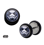Star Wars Pendientes Stormtrooper Helmet Graphic Front