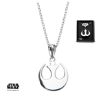 Star Wars Collar Rebel Alliance Symbol 46 cm (Plata)
