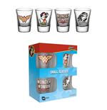Wonder Woman Pack de 4 Vasos de Chupitos 60´s Pop