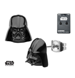 Star Wars Pendientes Black PVD Plated 3D Darth Vader
