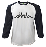 Camiseta The Beatles - Raglan Baseball Abbey Road Crossing