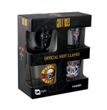 Pack de 4 Vasos de Chupitos Guns N' Roses - Mix