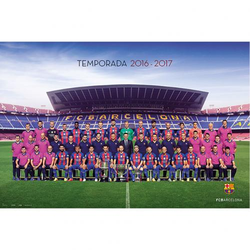Póster FC Barcelona Equipo