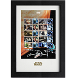 Star Wars Sellos Enmarcado Collector 43 x 29 cm