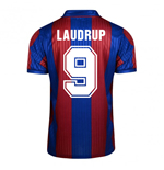 Camiseta FC Barcelona Home Score Draw 1992 (Laudrup 9)