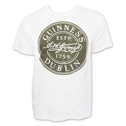 Camiseta Guinness Bottle Cap Label