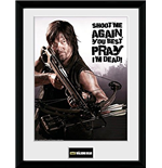 Póster Enmarcado The Walking Dead - Daryl Shoot Me 30 x 40 cm