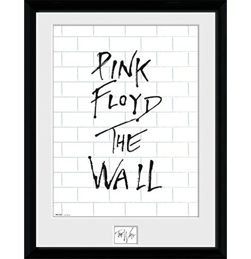 foto enmarcada pink floyd the wall white wall 30x40 cm por tan s lo 20 99 en. Black Bedroom Furniture Sets. Home Design Ideas