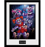 Póster Enmarcado Five Nights at Freddy's - Sister Location Group - 30x40 Cm