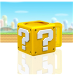 Super Mario Taza Shaped Question Block
