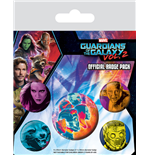 Guardianes de la Galaxia Vol. 2 Pack 5 Chapas Cosmic