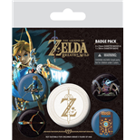 The Legend of Zelda Breath of the Wild Pack 5 Chapas Z Emblem