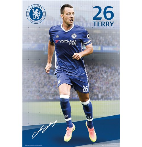 Póster Chelsea - Terry 16/17 - 61x91,5 Cm