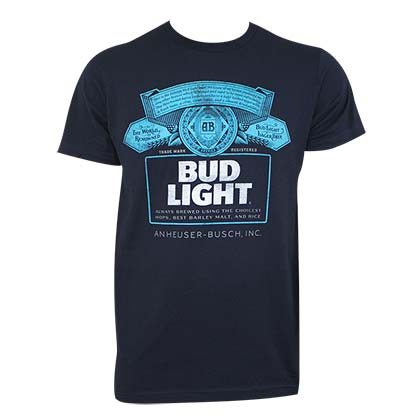Camiseta Bud Light Azul efb0f818ce2