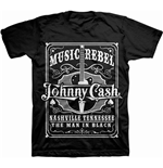 Camiseta Johnny Cash Music Rebel