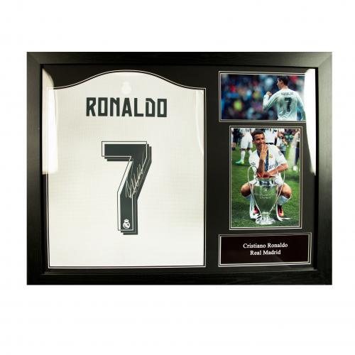 Camiseta Enmarcada Real Madrid Autografiada por Ronaldo por tan sólo ...