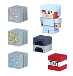 Minecraft Mine-Keshi Figuras 2 - 4 cm Starter Set Cave Adventure Pack & Alex