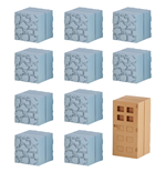 Minecraft Mine-Keshi Figuras 2 - 4 cm Block Set Cobblestone & Wooden Door