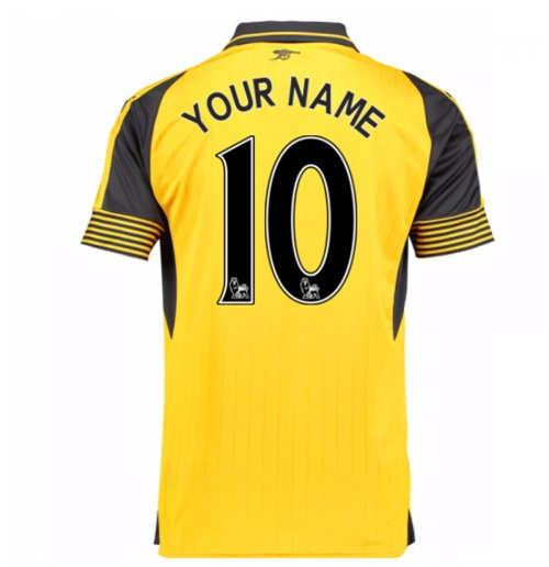 Camiseta Arsenal Away 2016/17 Personalizable de niño
