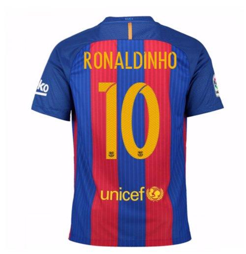 Compra Camiseta Barcelona Home 2016 17 de niño (Ronaldinho 10) a226c6daef6