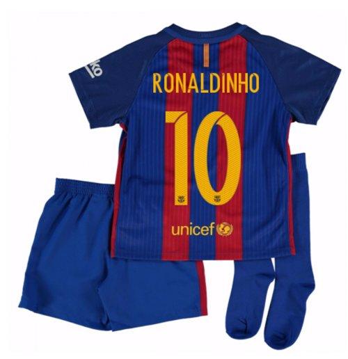 Compra Camiseta Barcelona Home 2016 17 de niño (Ronaldinho 10) 9eb19145c53
