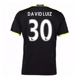 Camiseta Chelsea 2016-2017 Away (David Luiz 30) de niño