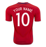 Camiseta Chile Fútbol 2016-2017 Home Personalizable de niño