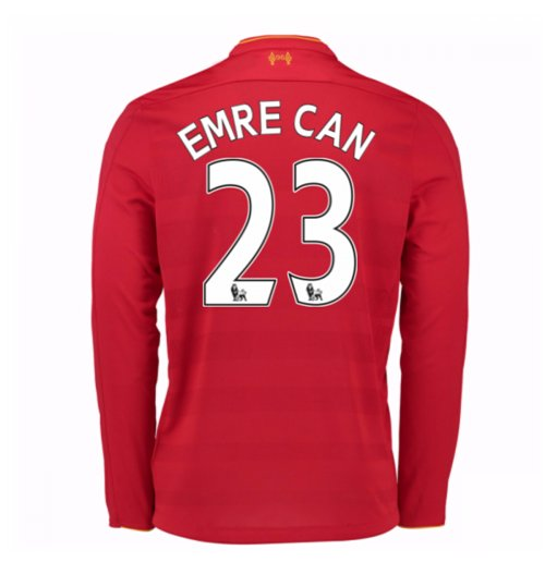 Camiseta Manga Larga Liverpool FC 2016-2017 Home (Emre Can 23) de niño