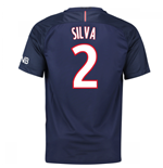 Camiseta Paris Saint-Germain 2016-2017 Home (Silva 2) de niño