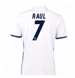 Camiseta Real Madrid Home 2016/17 (Raul 7) de niño