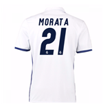 Camiseta Real Madrid Home 2016/17 (Morata 21) de niño