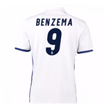 Camiseta Real Madrid Home 2016/17 (Benzema 9)